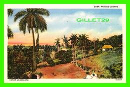 HABANA, CU BA - PAISAJE CUBANO - CUBAN LANDSCAPE -  C. JORDI - - Cuba