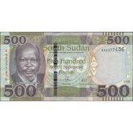 TWN - SOUTH SUDAN NEW - 500 Pounds 2018 Prefix AB UNC - South Sudan