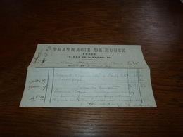 Document  Commercial Facture Pharmacie De Houck Ypres 1899 - Belgique