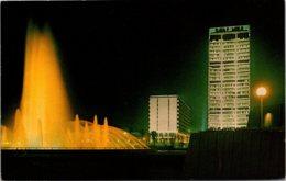 Florida Jacksonville Friendship Fountain Gulf Life Tower & Hilton Hotel At Night - Jacksonville