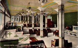 Florida Jacksonville Aragon Hotel Lobby 1917 - Jacksonville