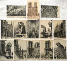 Lot Von 13 AK Paris Ca. 1910 - 1930 (?) Notre Dame - Verschiedene Motive - Notre Dame De Paris