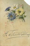 Card Signed By Estrada Palma President Of The Republic Autograph  1902 To Lopez Aldazabal . Corner Cut - Cuba