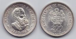 PERU - SILVER 100 INTIS COMMEMORATIVE COIN - 1986 UNC - Pérou