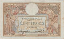 FRANCE  100 FRANCS  Note N°316 - Francia