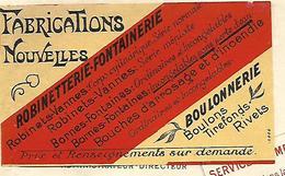 """Facture Avec Vignette """"Fabrications Nouvelles """" 1910 / 54 Hauts Fourneaux PONT A MOUSSON / C. CAVALLIER - France"""