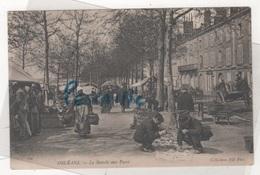 45 LOIRET - CP ANIMEE ORLEANS - LE MARCHE AUX PUCES - COLLECTIONS ND PHOT N° 144 - Orleans