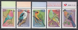 South Africa 2000 - Definitive Stamps: Birds - Mi 1304 A, 1306 A, 1307 A, 1309 A, 1411 A ** MNH - Songbirds & Tree Dwellers