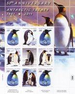 MARSHALL ISLAND 2011 / Superbe 9 Valeurs Sur Bloc Dentelées MNH - Préservation Des Régions Polaires & Glaciers
