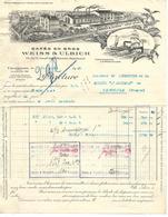 Facture Photo & Traite 1923 / 92 COURBEVOIE / Cafés WEISS & ULRICH / - France