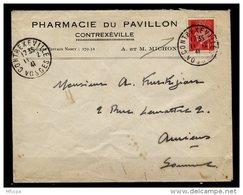 Am5460 L 1941 Contrexeville Vosge (Pharmacie Pavillon) Pour Amiens /Petain 1f Rouge YvT 514 - France