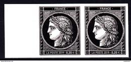 CERES 1849 0,20 € Paire Bord De Feuille 170 Ans Du Premier Timbre Poste Français - France