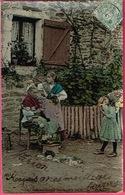 Oh ! Comme Grand Mère Sera Belle (pose De Bigoudis ) - E. L. D. CPA Glacée Et Colorisée. - Fermes