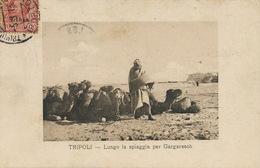 Tripoli  Lungo La Spiaggia Per Gargaresh . P. Used Italian Libia Stamp To Malo Les Bains 1913 - Libya