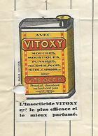 """Facture Avec Vignette """"VITOXY"""" / 54 NANCY / MORAWETZ & TISSERAND / Epicerie En Gros - France"""