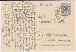 NOCHMALS REDUZIERT Berlin (West) Schwarzaufdruck Ganzsache P 2 D Gel Berlin 1949 RRR - Cartoline - Usati