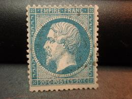 TIMBRE Napoléon III EMPIRE.FRANC 20 C Oblitéré - 1862 Napoleon III
