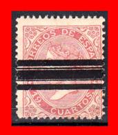 ESPAÑA SELLO AÑO 1867 --  19 CUARTOS REINA ISABEL II BARRADO - Usados