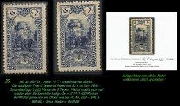 TURKEY ,EARLY OTTOMAN SPECIALIZED FOR SPECIALIST, SEE...Mi. Nr. 697 Ia - Mayo Type 14 C - 1920-21 Kleinasien