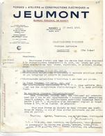 Lettre 1945 / 54 NANCY / JEUMONT Forges , Constructions électriques / Militaria / Reconstruction Industrielle Du Pays - Documents