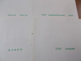 Lot N° 342  Colonies Francaise  COTES D'IVOIRE GABON Etc.. Neufs**/ * Ou Obl Sur Page D'albums .  No Paypal - Stamps