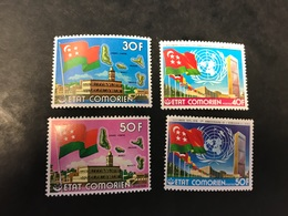 COMORES 1976 4 V Neuf ** MNH Indépendance Et ONU - Comores (1975-...)