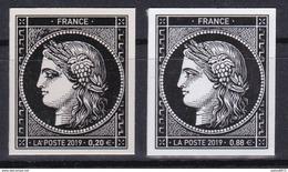 CERES 1849 Les 2 Valeurs : 0,20 € 0,88 € 170 Ans Du Premier Timbre Poste Français - France