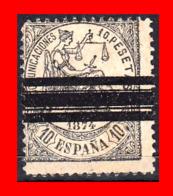 ESPAÑA SELLO AÑO 1874 --  ALEGORIA DE LA JUSTICIA BARRADO - 1873-74 Regencia