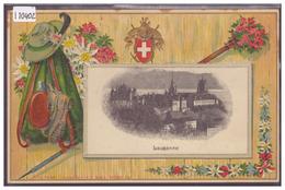 LAUSANNE - CARTE EN RELIEF - PRÄGE KARTE - TB - VD Vaud