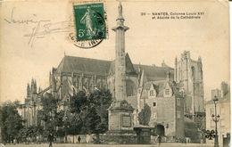 """44-Nantes -"""" 20- Colonne Louis XVI Et Abside De La Cathédrale"""" - Nantes"""