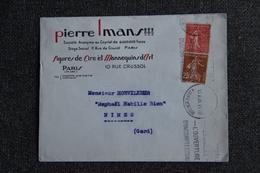 Timbres Sur Lettre Publicitaire - PARIS , Figures De Cires Et Mannequins D'Art, Pierre IMANS. - France