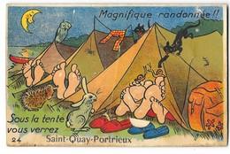 SAINT QUAY PORTRIEUX (22) Carte à Système Dépliant Camping - Saint-Quay-Portrieux