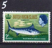 1968 Game Fishing 2c MNH - British Virgin Islands
