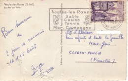 FRANCE :  1955 - Carte Postale De Veules-les-Roses - Lettres & Documents