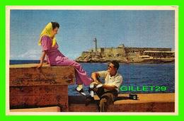 HABANA, CUBA - MORRO CASTLE GUARDS, HAVANA - ANIMATED - PAN AMERICAN WORLD AIRWAYS - - Cuba