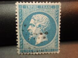 TIMBRE Napoléon III EMPIRE FRANC, Non Lauré  20 C Oblitéré - 1862 Napoléon III