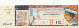 BL 98 / BILLET  LOTERIE NATIONALE   AILES BRISEES MARINSAVIATEURS 5 EME TRANCHE  1950 - Billets De Loterie