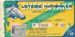 BL 99 / BILLET  LOTERIE NATIONALE  GRAND PRIX DE L'ARC DE TRIOMPHE    1949 - Billets De Loterie