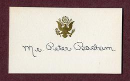 "U.S.A.  : "" PETER BASHAM "" - Visiting Cards"
