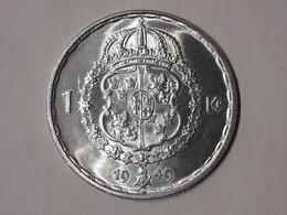 1 Krone Gustaf V Suède (Sweden) 1949 Argent - Suède