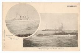 Torpilleur Français Escortant Le Swan - Le Cuirasse Russe Le Variag - Dunkerque - Guerre