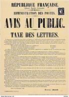 CERES 1849  0,20 € Reproduction De L' Avis Au Public 170 Ans Du Premier Timbre Poste Français - Briefe U. Dokumente