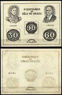 91691) Brasile - Foglietto Centenario Francobollo, 1943 - Senza Gomma - Blocs-feuillets