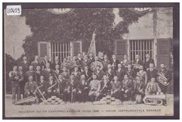 DISTRICT DE LA VALLEE - UNION INSTRUMENTALE DU BRASSUS A NYON EN 1906 - TB - VD Vaud