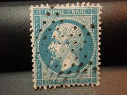 TIMBRE Napoléon III EMPIRE  FRANC, Non Lauré  20 C Oblitéré. - 1862 Napoléon III