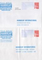 FRANCE : Lot De 2 Prêt à Poster Réponse Neufs - Handicap Internatioonal - Entiers Postaux