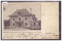 DISTRICT DE LA VALLEE - INAUGURATION DES LOCAUX DE L'UNION DU BRASSUS LE 26 JUIN 1904 - TB - VD Vaud