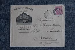 Timbres Sur Lettre Commerciale - ST NAZAIRE, Grand HOTEL, J.RENAUD Propriétaire. - Sports & Tourisme
