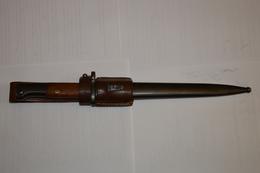 Baïonnette Yougoslave 98K Mauser 1944 Complète Et Porte-fourreau - Armes Blanches