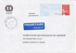FRANCE : Prêt à Poster Réponse - îles Sous Le Vent (Bora Bora) - PAQUEBOT - Agir Pour Les Enfants Du Monde - Entiers Postaux
